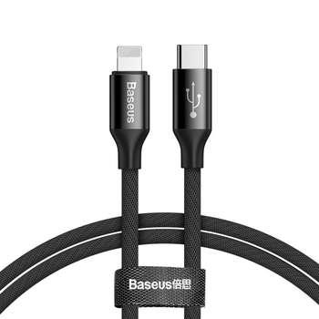 کابل تبدیل USB-C به لایتنینگ باسئوس مدل CATLYW طول 1متر