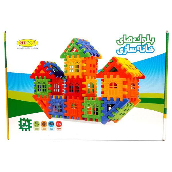 بازی ساختنی بلوک های خانه سازی 48 تکه