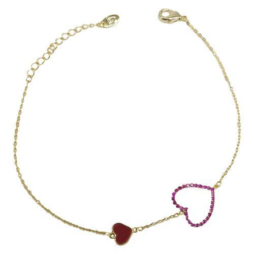 دستبند تمیمه طرح قلب  مدل KBB-023
