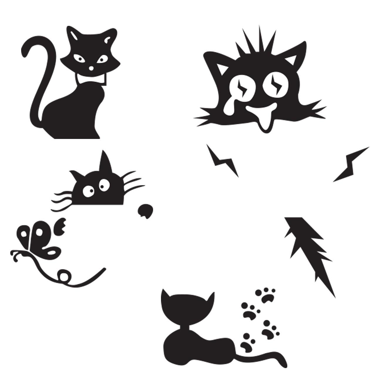 استیکر کلید پریز گراسیپا طرح گربه هاا بسته4 عددی