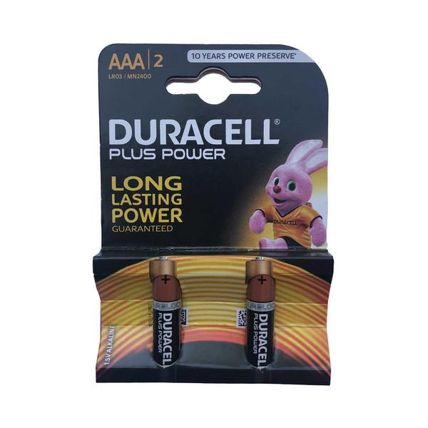 باتری نیم قلمی دوراسل مدل Plus Power بسته 2 عددی