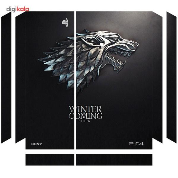 خرید اینترنتی برچسب افقی پلی استیشن 4 ونسونی طرح Winter Is Coming Stark اورجینال