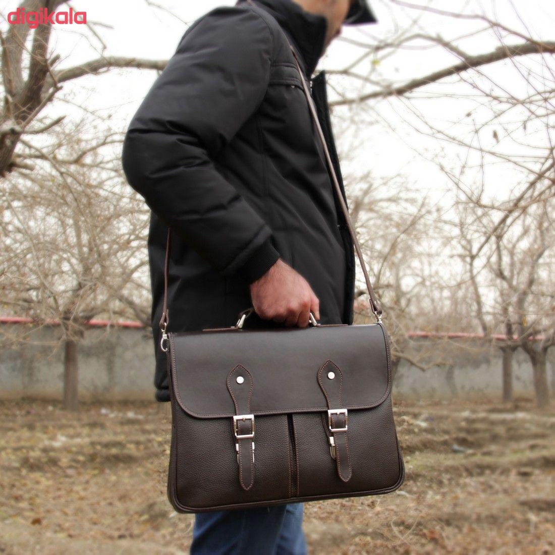 کیف اداری مردانه چرم بیسراک مدل مارال کد Ed-502 main 1 24