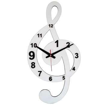 ساعت دیواری برتاریو مدل ملودی سفید