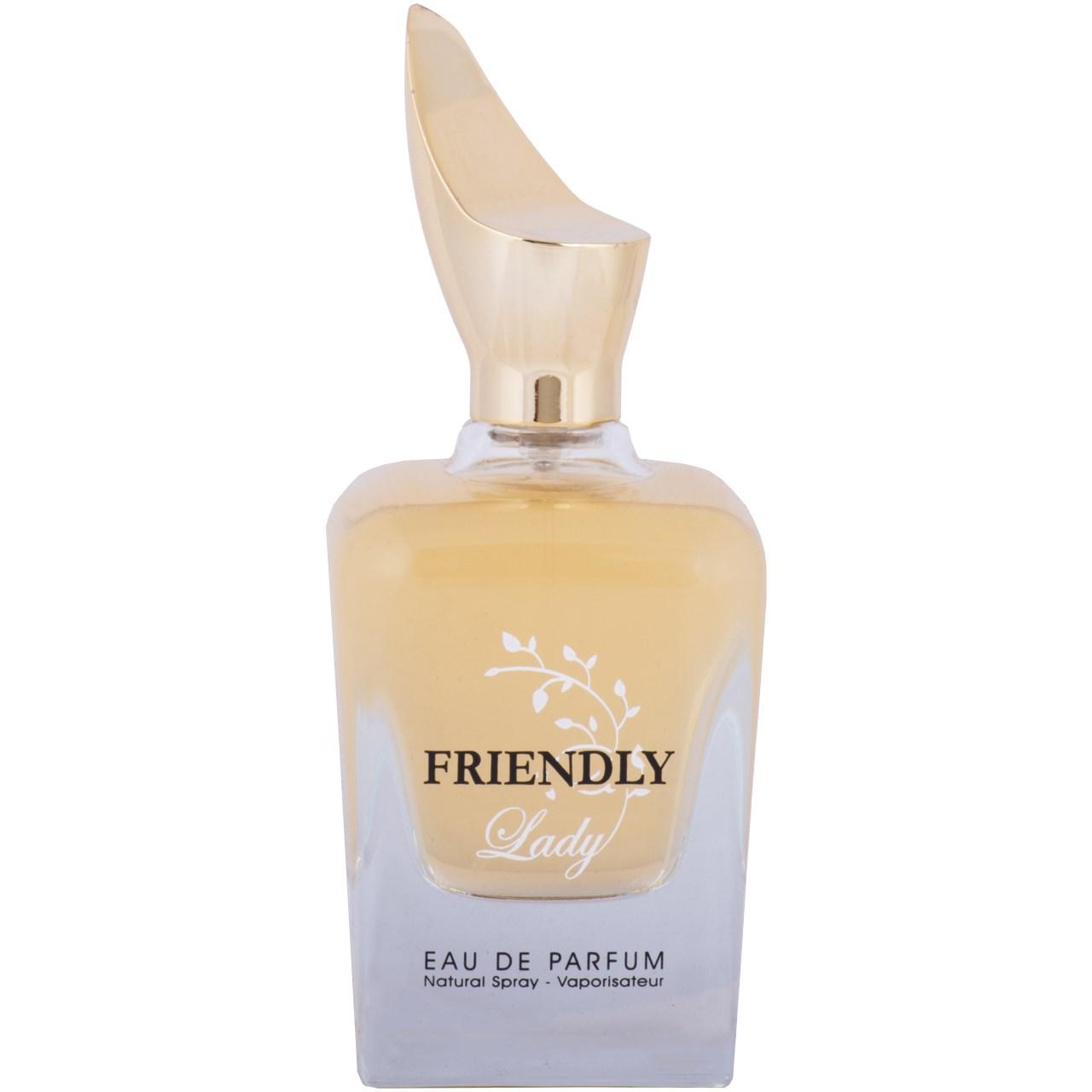 ادو پرفیوم زنانه فراگرنس ورد مدل Friendly Lady حجم 100 میلی لیتر