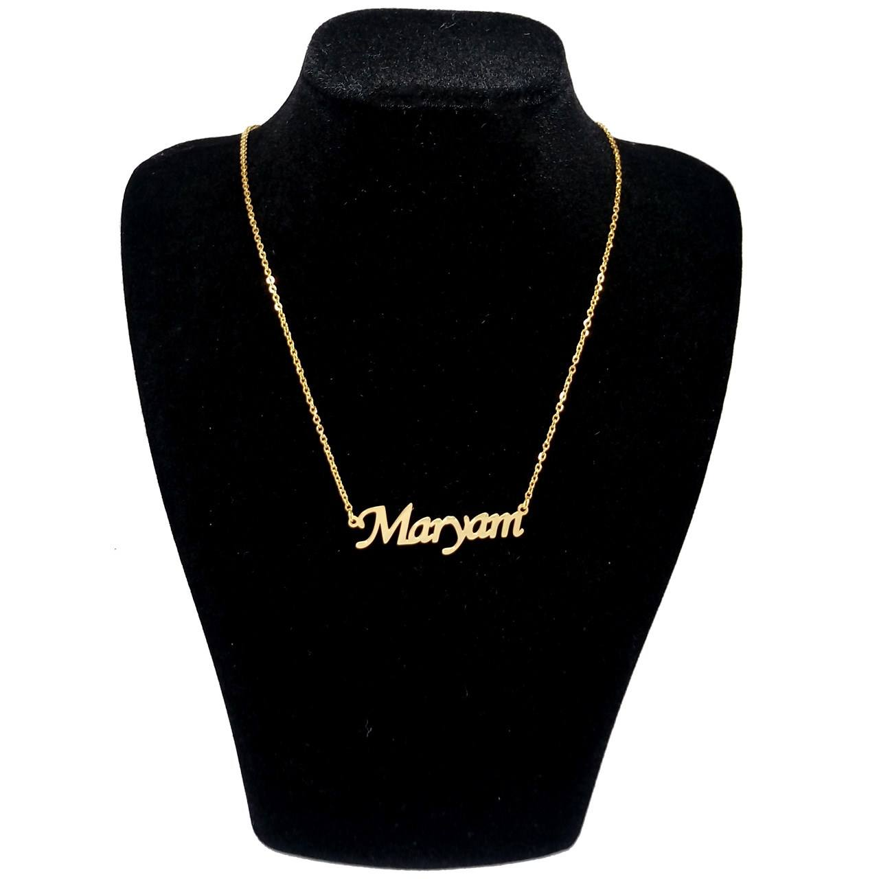 گردنبند آی جواهر طرح مریم انگلیسی کد ge1100107 -  - 1