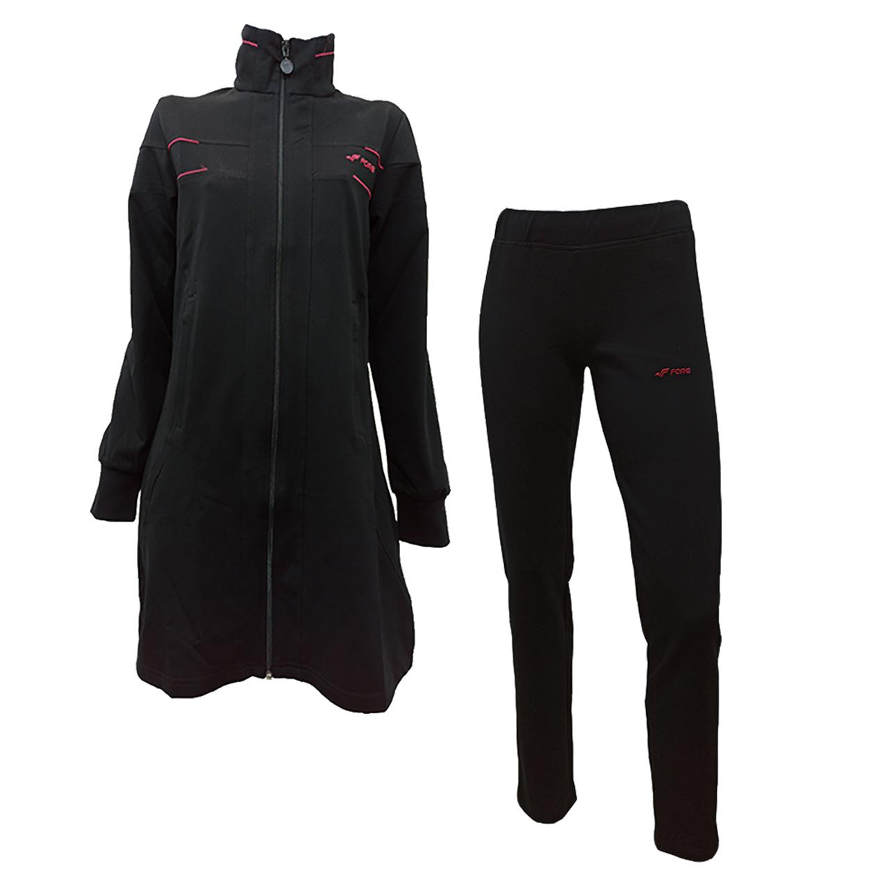 ست گرمکن و شلوار ورزشی زنانه فوره مدل bk162035