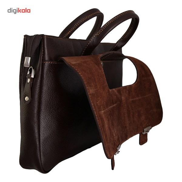 کیف دستی چرم طبیعی گالری مثالین مدل 24007