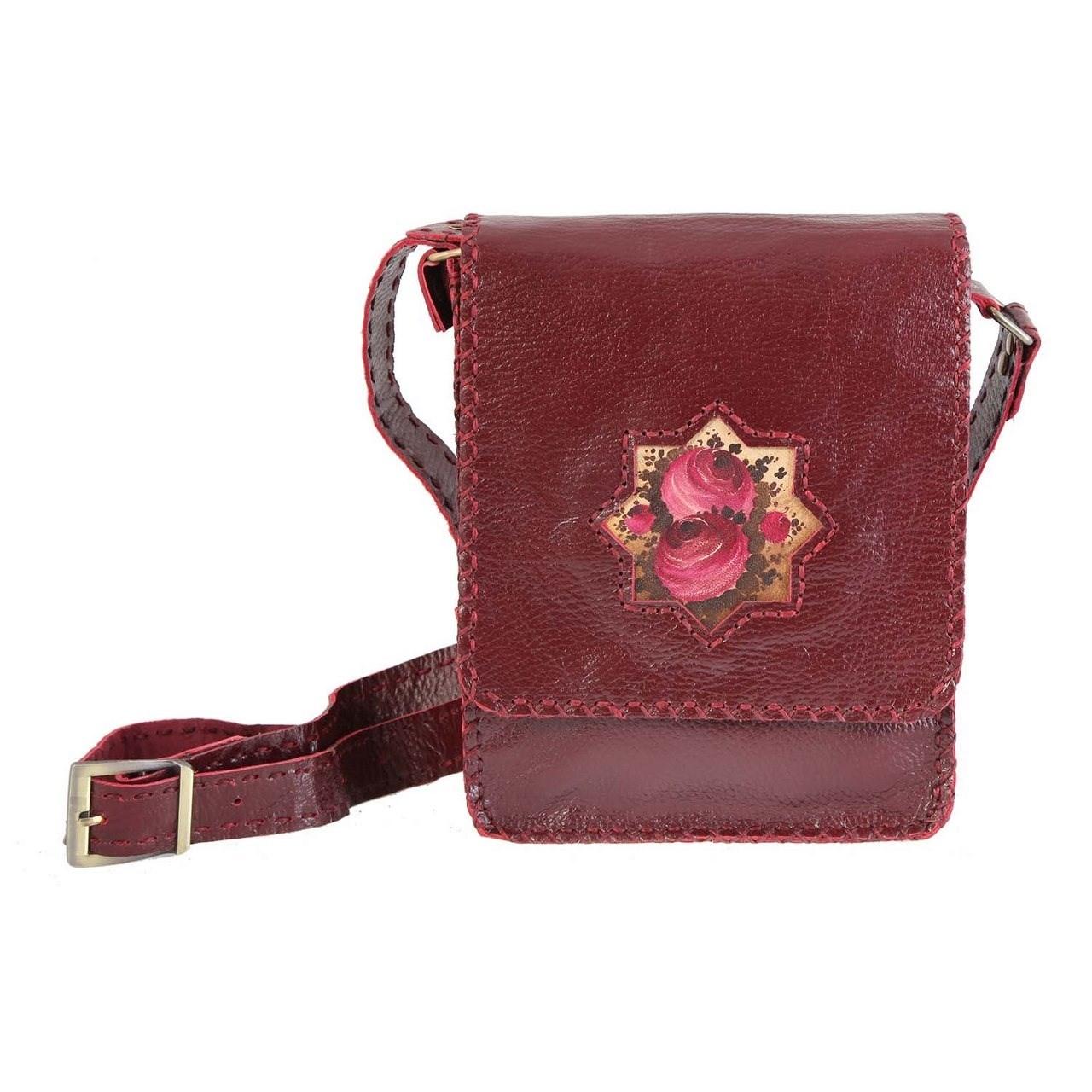 کیف چرمی دست دوز دیبا مدل 178014 دوشی