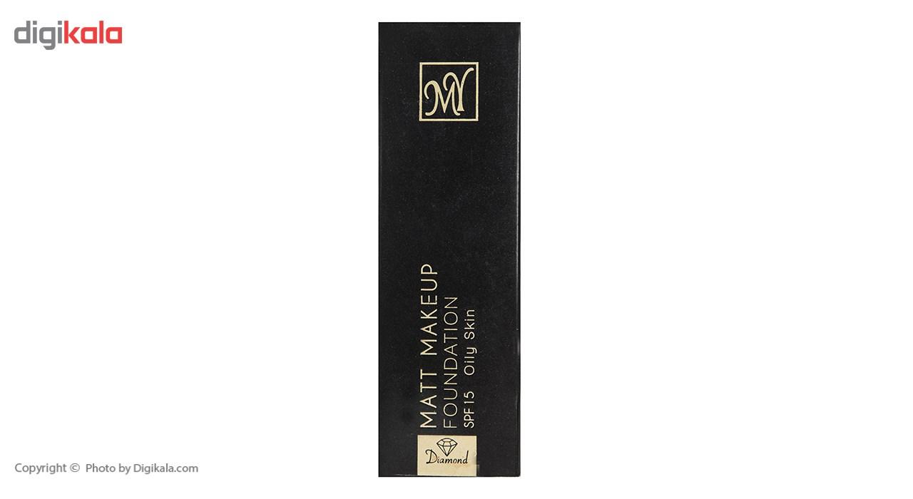 کرم پودر مای سری Black Diamond مدل Matt Makeup شماره 04