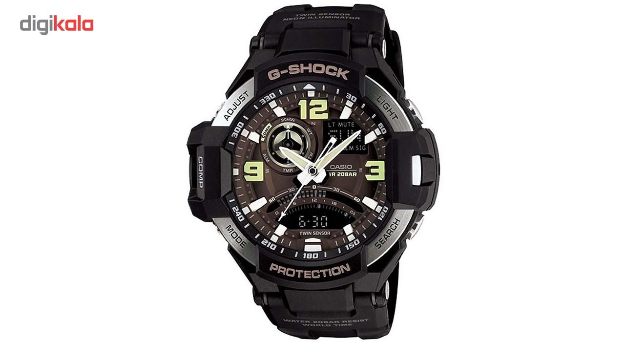 خرید ساعت مچی عقربه ای مردانه کاسیو جی شاک GA-1000-1BDR | ساعت مچی