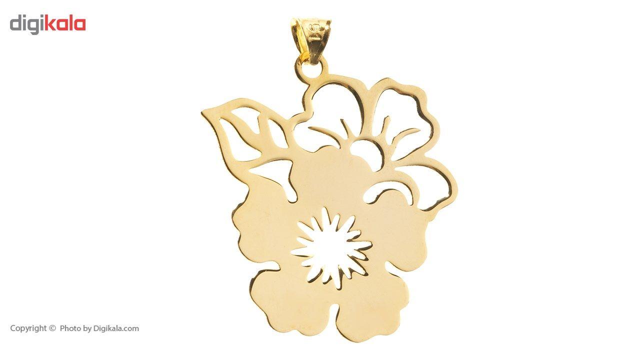آویز گردنبند طلا 18 عیار رزا مدل N119  Rosa N119 Gold Necklace Pendant Plaque