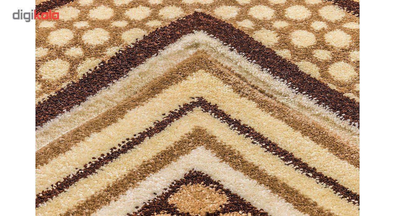 فرش ماشینی سهند کد C722.XO طرح فانتزیزمینه گردوئی