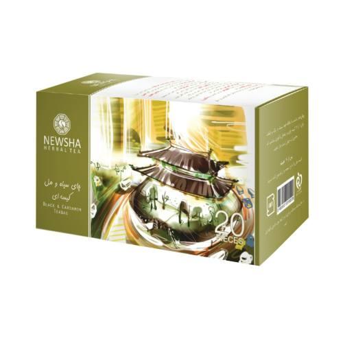 بسته چای سیاه و هل نیوشا مدل Cardammon