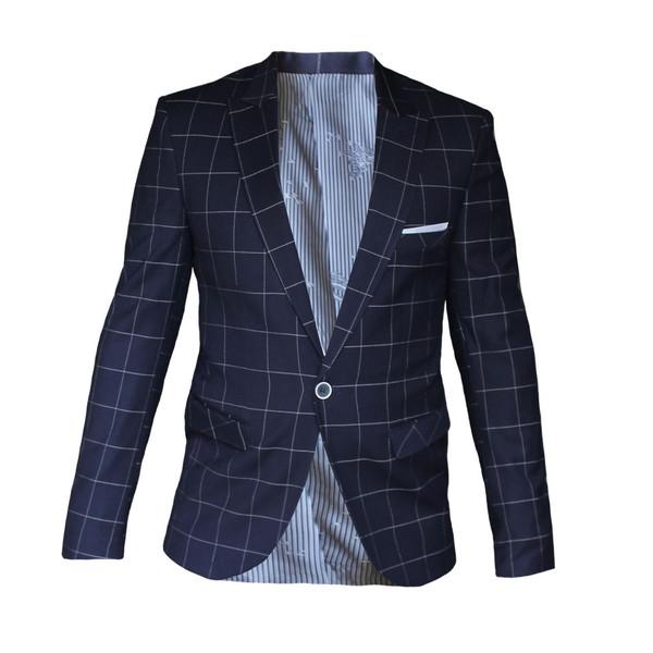 کت تک مردانه مدل چهارخانه  کد 021 فول شاپ