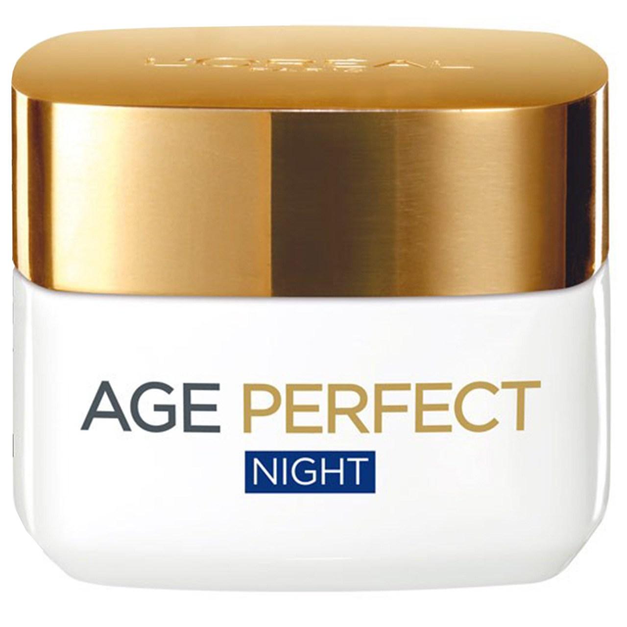 قیمت کرم مرطوب کننده و روشن کننده شب لورآل مدل Age Perfect حجم 50 میلی لیتر