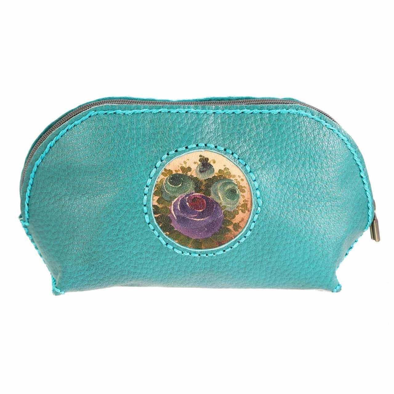 کیف چرمی دستدوز دیبا کد 178010 آرایشی