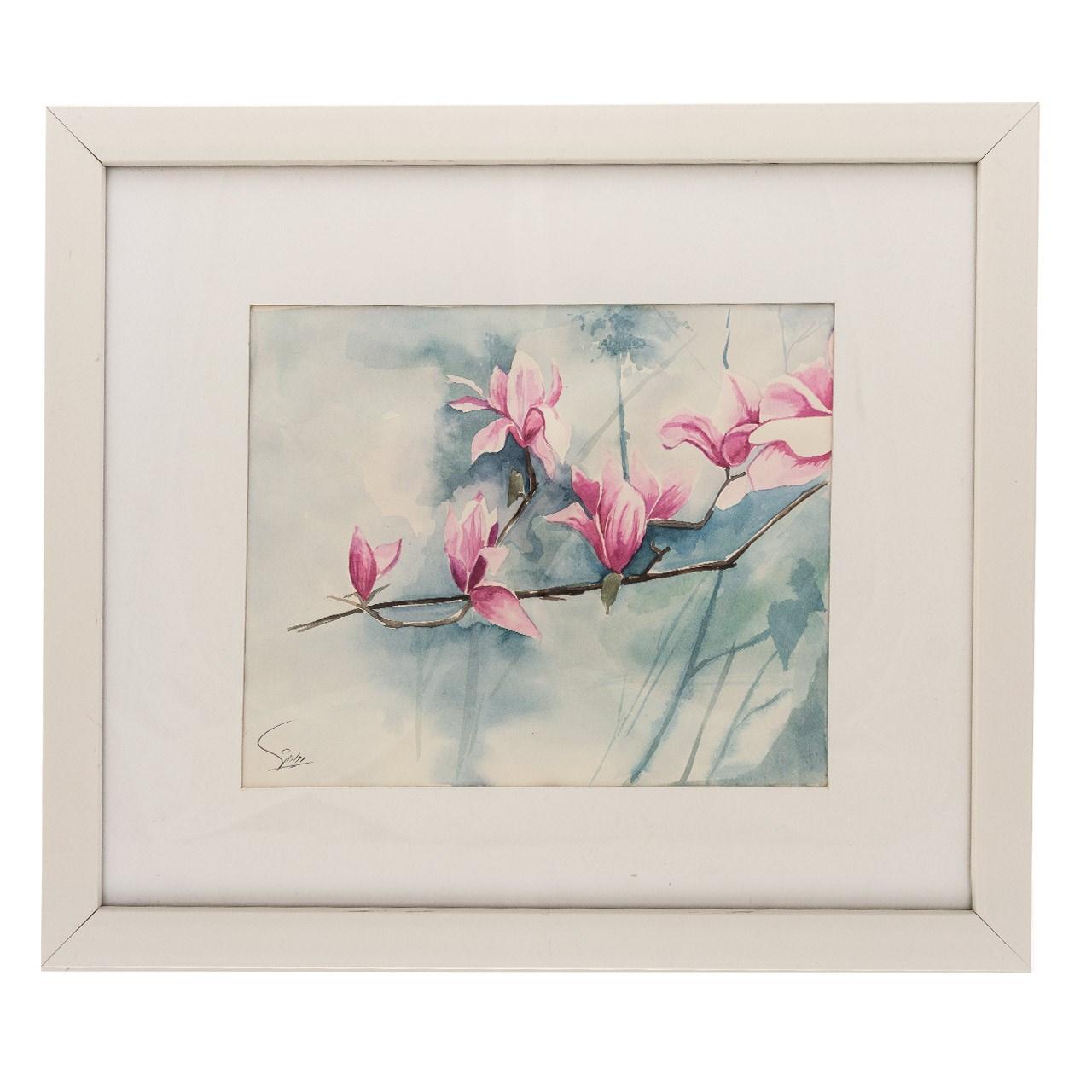 خرید                      تابلو آبرنگ آرت گالری طرح گل های لطیف کد A-F2027