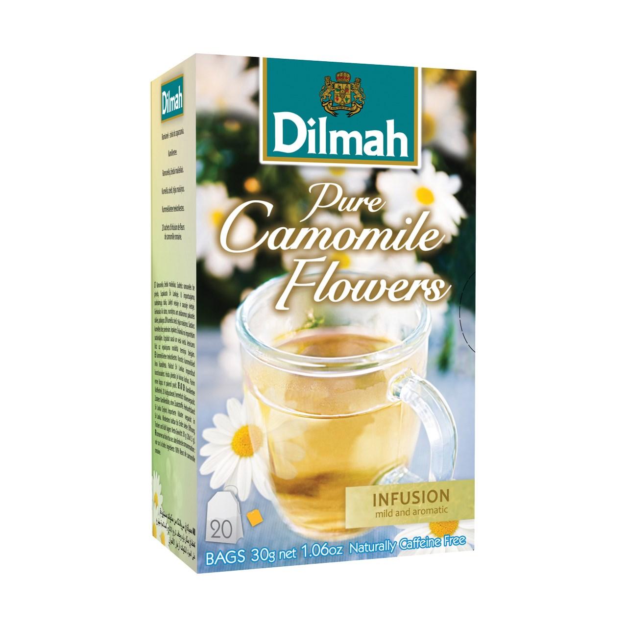 بسته دمنوش گیاهی دیلما مدل Pure Camomile Flowers
