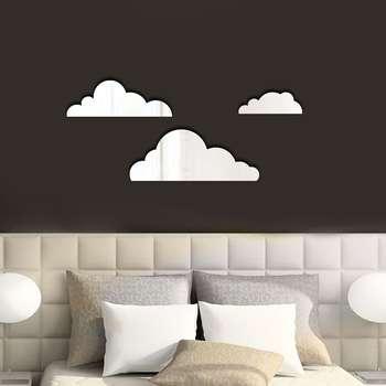آیینه پلکسی پرشین استیکر طرح ابر