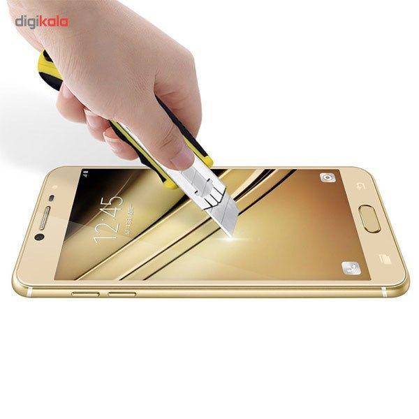 محافظ صفحه نمایش شیشه ای مدل Tempered مناسب برای گوشی موبایل سامسونگ Galaxy C5 main 1 2