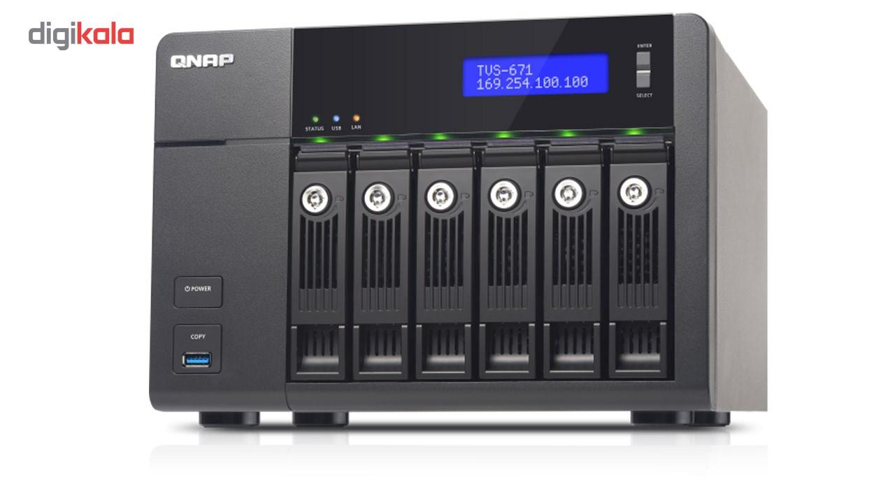 ذخیره ساز تحت شبکه کیونپ مدل TVS-671-i5-8G فاقد هارددیسک