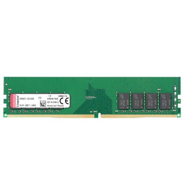 رم دسکتاپ DDR4 تک کاناله 2400 مگاهرتز کینگستون ظرفیت 8 گیگابایت