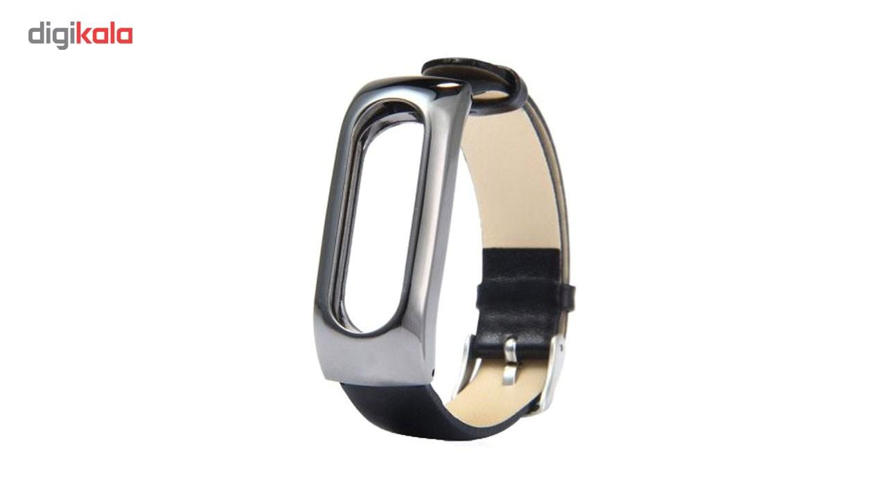 قیمت بند مچ بند هوشمند شیائومی مدل Mi Band 2 Metal Leather