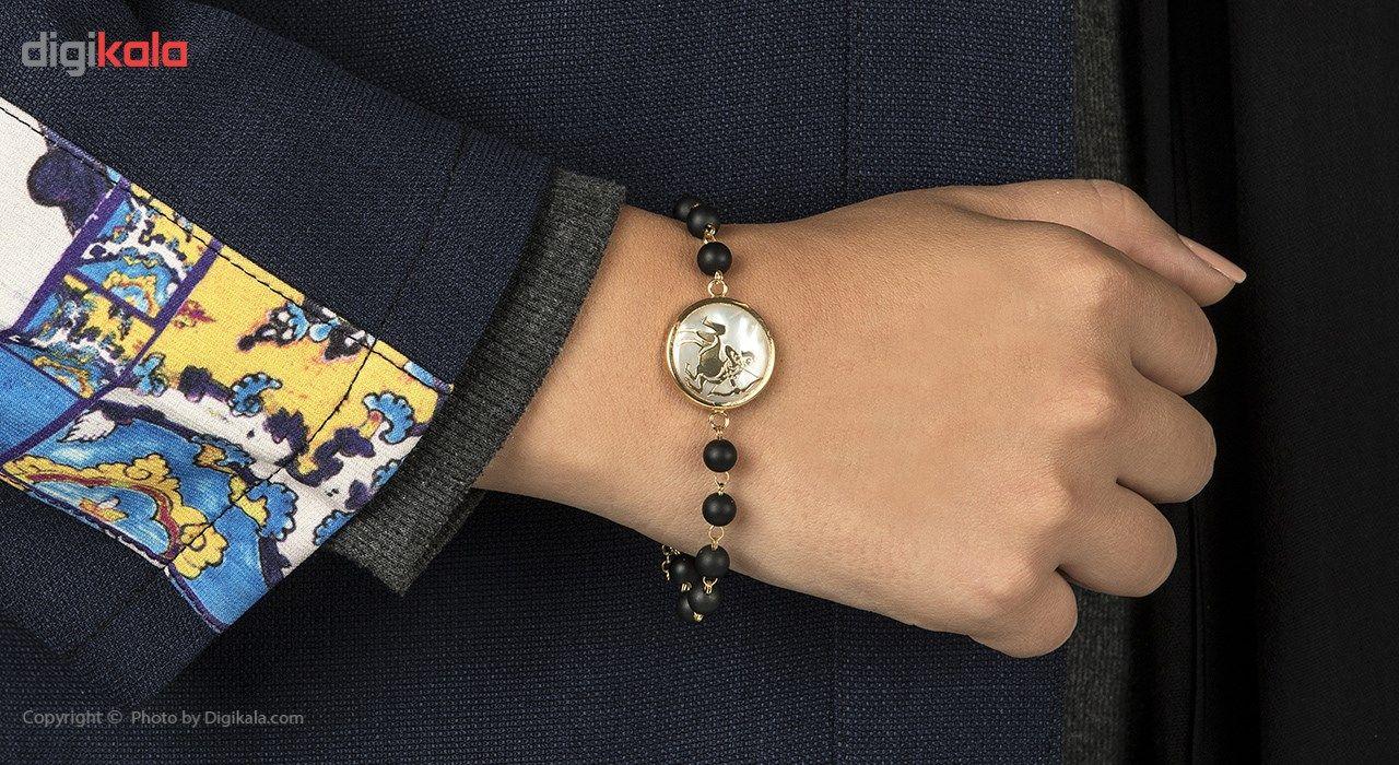 دستبند طلا 18 عیار ماهک مدل MB0124 - مایا ماهک -  - 2