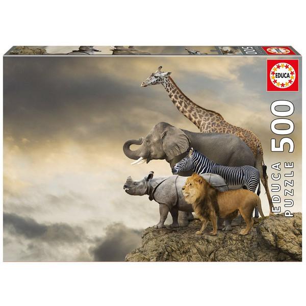 پازل 500 تکه ادوکا مدل Animals On The Edge Of A Cliff