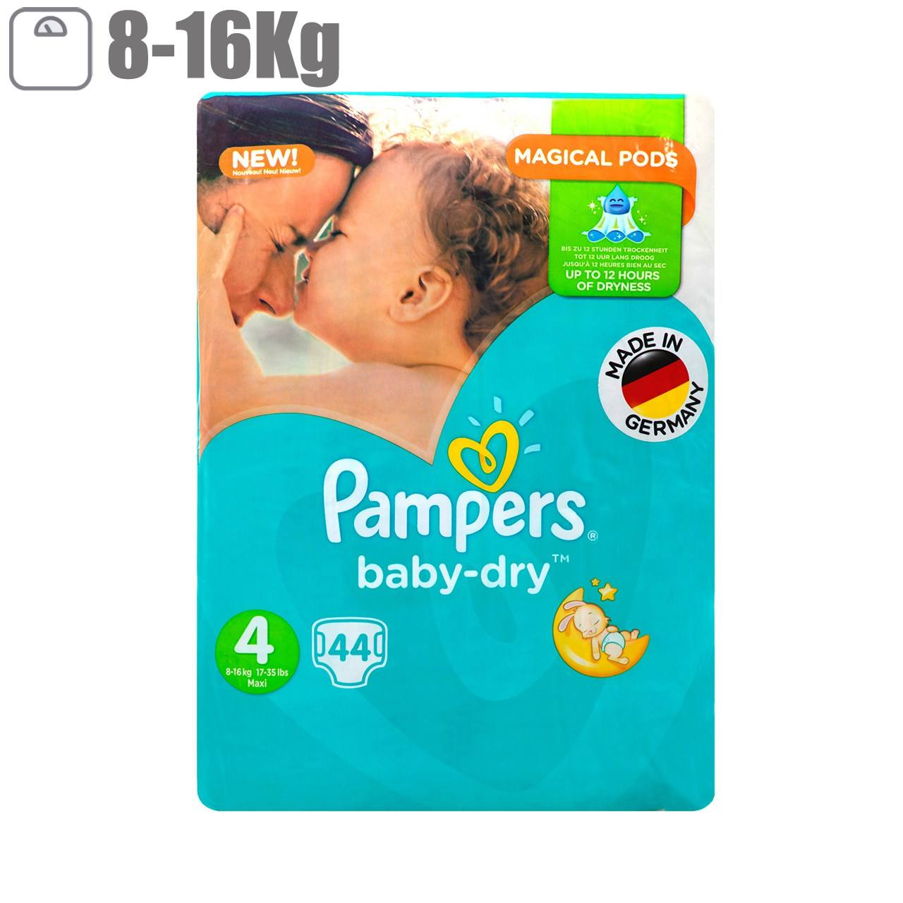 پوشک پمپرز مدل New Baby Dry سایز 4 بسته 44 عددی main 1 1