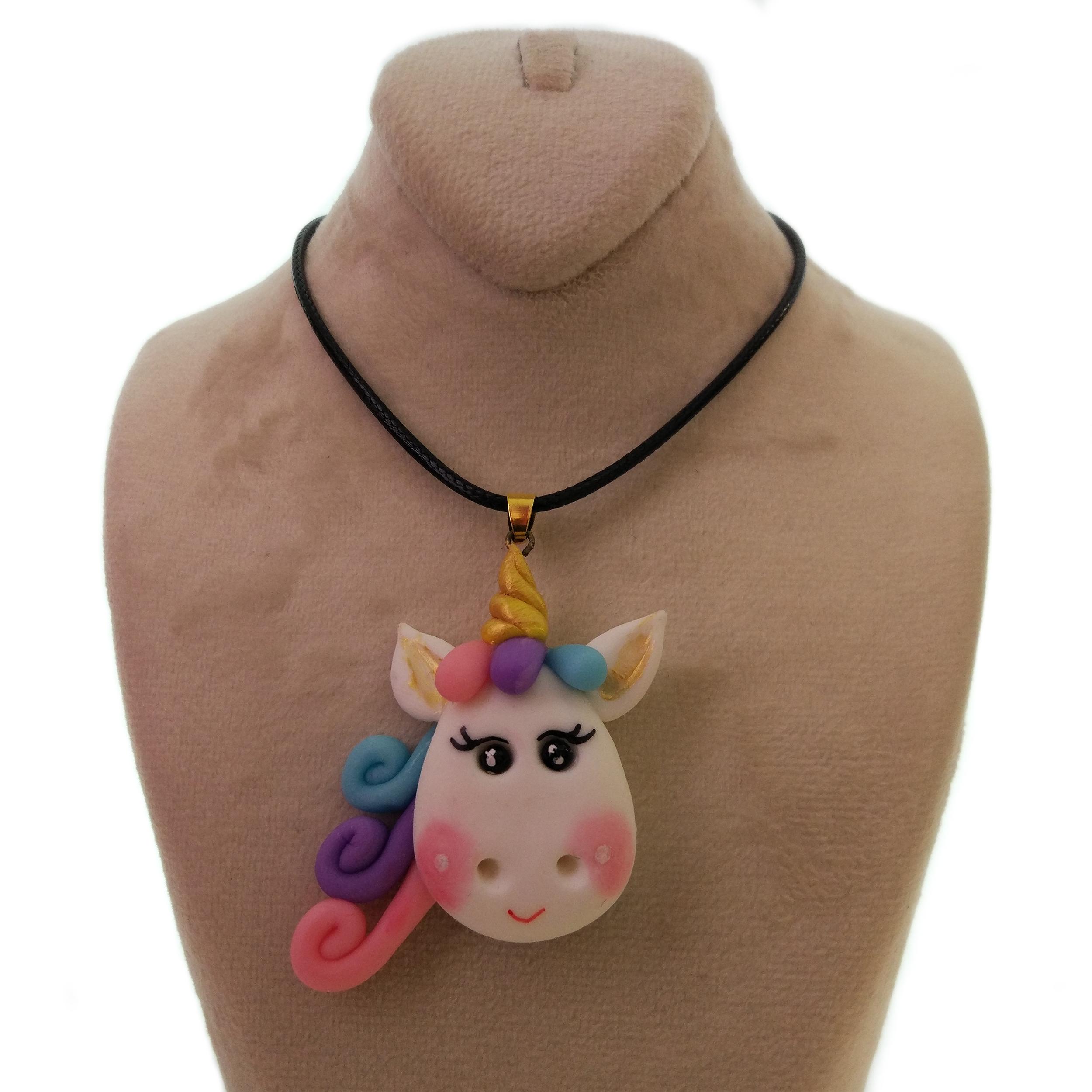 گردنبند دخترانه طرح پونی کد 002