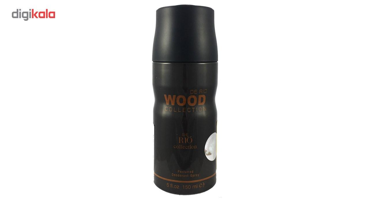 اسپری ضد تعریق مردانه ریو کالکشن مدل Rio Wood Black حجم 150ml