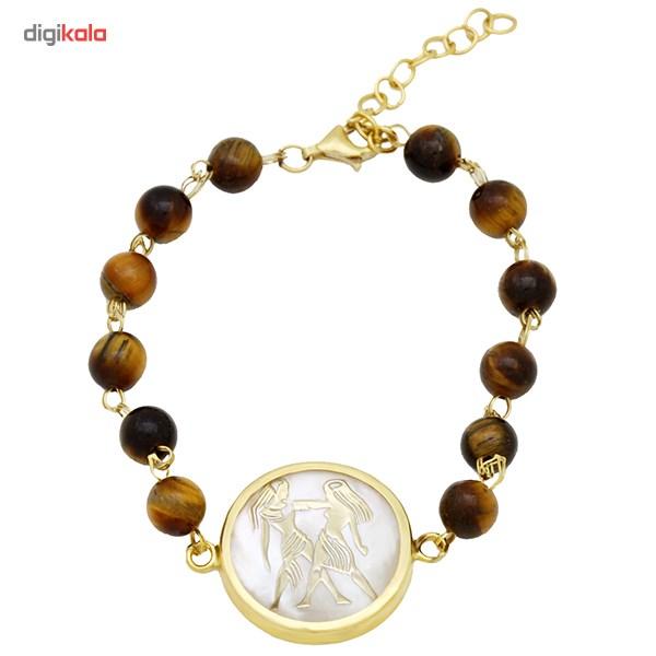دستبند طلا 18 عیار ماهک مدل MB0117 - مایا ماهک -  - 1