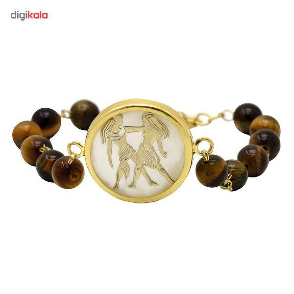 دستبند طلا 18 عیار ماهک مدل MB0117 - مایا ماهک -  - 2