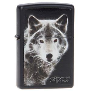 فندک زیپو مدل White Wolf کد 28303