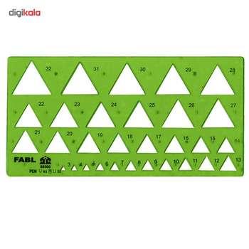 شابلون مثلث فابل کد FB415