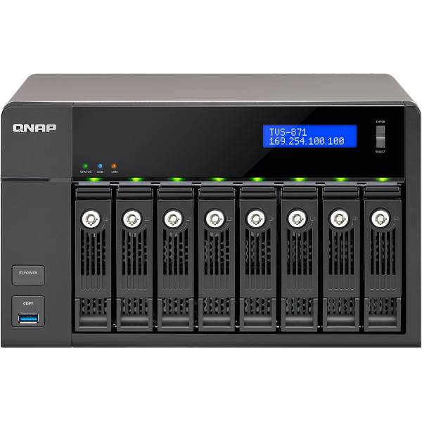 ذخیره ساز تحت شبکه 8Bayکیونپ مدل TVS-871-i7-16G