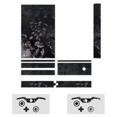 برچسب ماهوت مدل Black Wild-flower Texture  مناسب برای کنسول بازی Xbox One
