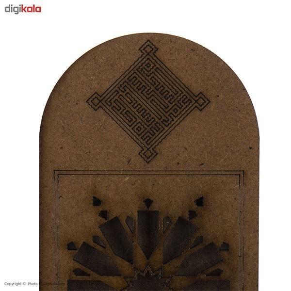 خرید                      جاعودی چوبی آناهید طرح شمسه