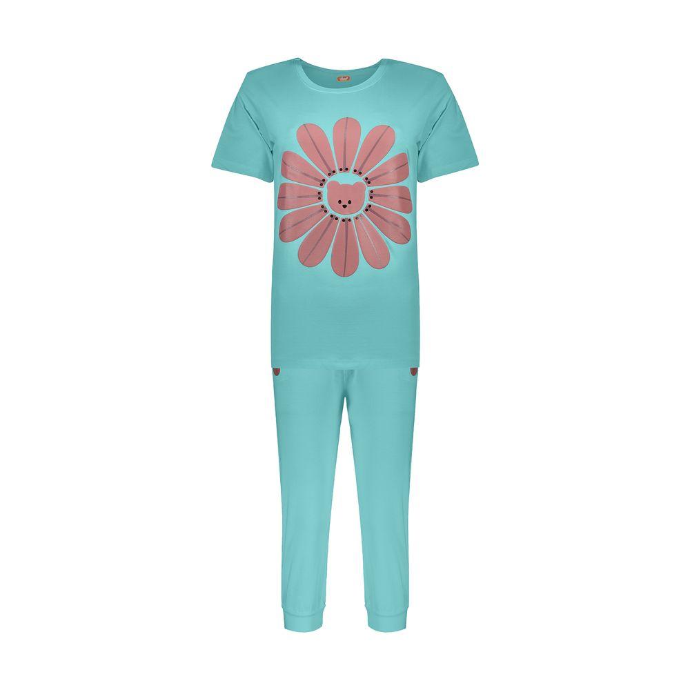 ست تی شرت و شلوارک راحتی زنانه مادر مدل 2041101-54