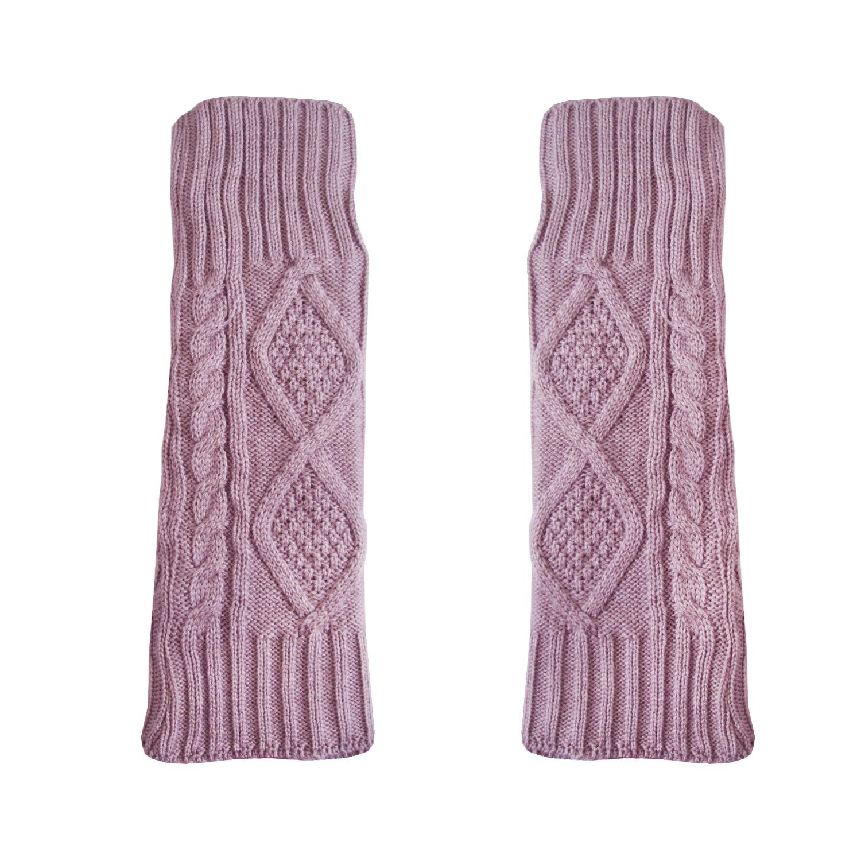 ساق دست بافتنی زنانه مدل LOZ کد 30762 رنگ یاسی روشن