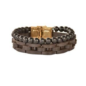دستبند چرمی کهن چرم مدل BR155-15