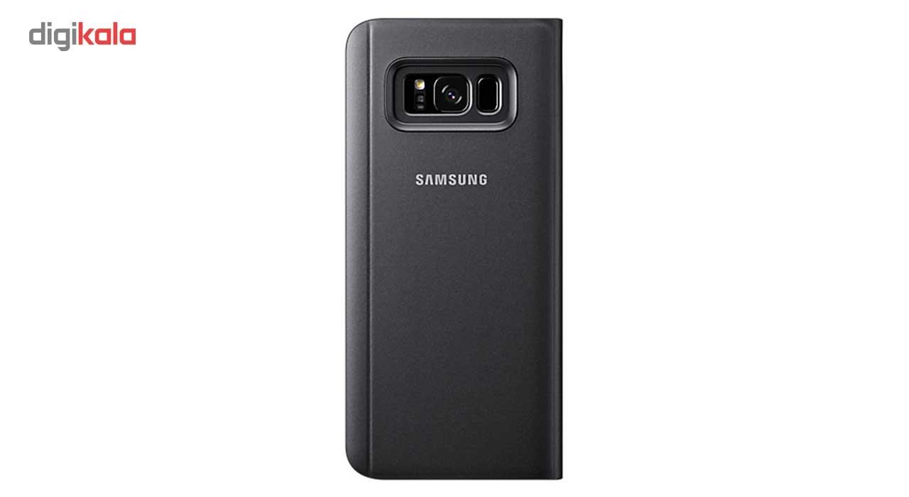 کیف کلاسوری سامسونگ مدل Clear View Standing مناسب برای گوشی موبایل Galaxy S8 Plus