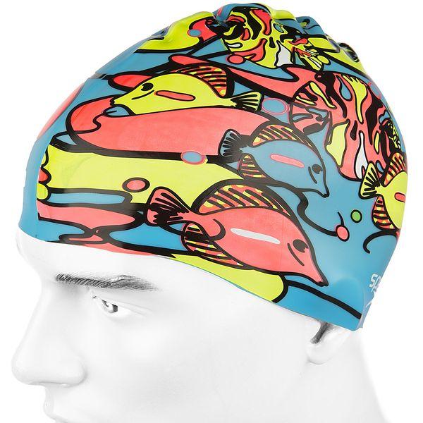 کلاه شنای اسپیدو مدل Junior Slogan Print
