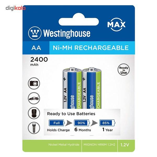 باتری قابل شارژ قلمی وستینگ هاوس مدل Ni-MH Rechargeable بستهی 2 عددی main 1 1