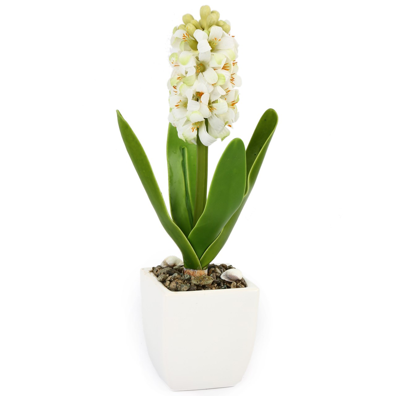 گلدان به همراه گل مصنوعی هومز طرح سنبل مدل 32352