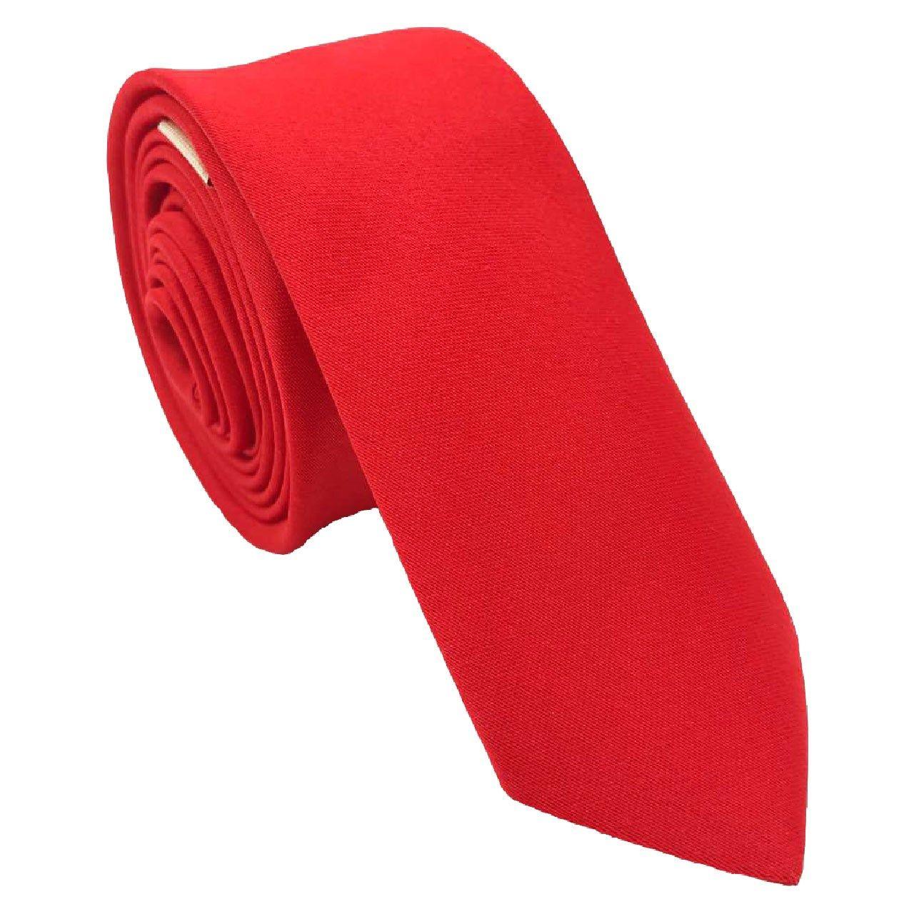 کراوات ساتن ساده هکس ایران مدل KS-RED -  - 1