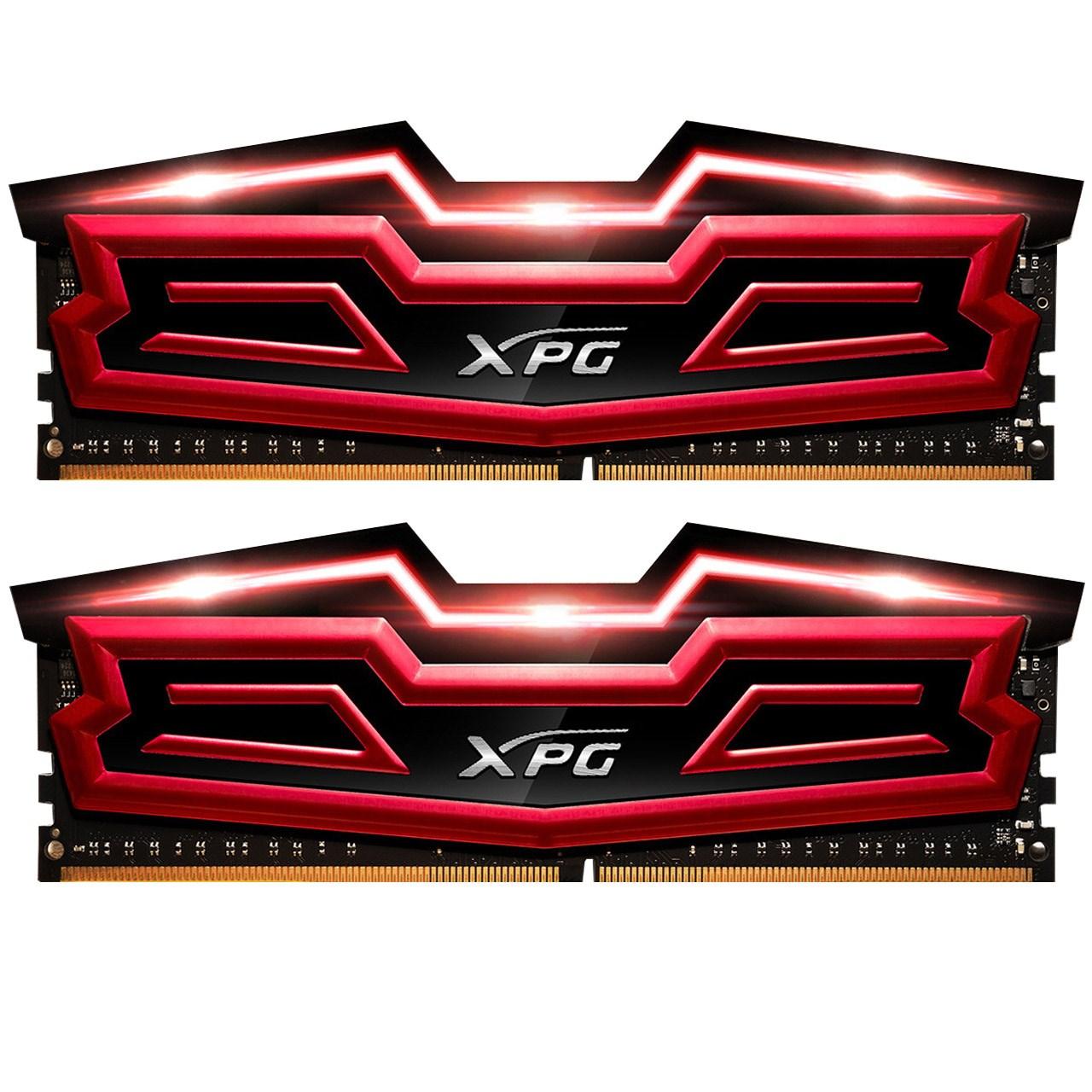 رم دسکتاپ DDR4 دو کاناله 2400 مگاهرتز CL16 ای دیتا مدل XPG Dazzle ظرفیت 16 گیگابایت