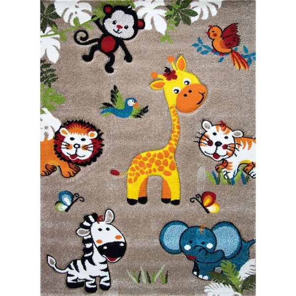 فرش ماشینی ترک مرینوس طرح فرش کودک - زرافه و حیوانات کد 32650